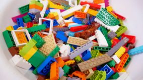Building blocks and bricks toys. Creative toy stock images