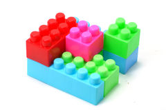 Building blocks. Colorful building blocks isolated on white Stock Photo