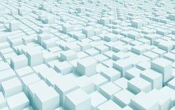 Building Blocks Concept. 3d Blue Building Blocks Concept royalty free illustration