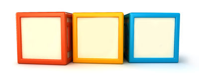 Building blocks. 3d render of Blank building blocks Stock Photos