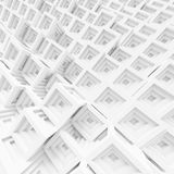 Building Blocks. 3d White Building Blocks Background Royalty Free Stock Images