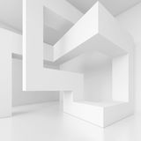 Building Blocks Design. 3d White Building Blocks Design Royalty Free Stock Photography