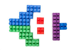 Building blocks figure on a white background Stock Photos