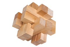 Building blocks forming a challenging puzzle Stock Image