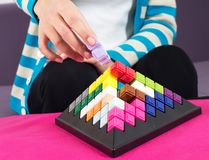 Building blocks game Stock Images