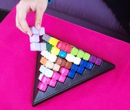 Building blocks game Stock Photos