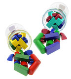 Building Blocks and Glass Jars Stock Images