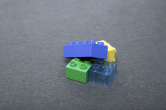 Building Blocks  On Grey Royalty Free Stock Image