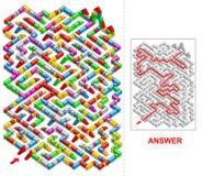 Building blocks labyrinth (portrait). Stock Images