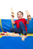 Building with blocks Royalty Free Stock Photography