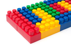 Building blocks. Plastic construction toy isolated on white background royalty free stock photography