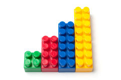 Building blocks. Plastic construction toy isolated on white background royalty free stock images