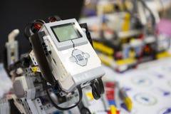 Building blocks remote control robot Royalty Free Stock Photo
