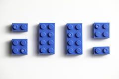 Building Blocks Similar To Legos Blue. Childrens building blocks similar to legos, blue royalty free stock photos