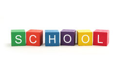 Building Blocks Spelling School Stock Photos