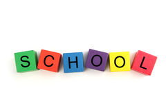 Building Blocks Spelling School Stock Photo