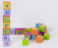 Building blocks of success Royalty Free Stock Image