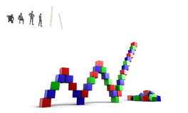 Building blocks to succes Royalty Free Stock Photography