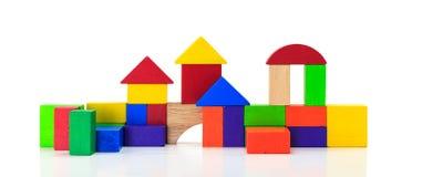 Building blocks toy over floor Stock Photo