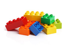 Building blocks on a white background Royalty Free Stock Images