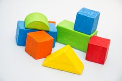 Building blocks in white background stock photos