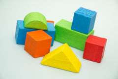 Building blocks in white background Royalty Free Stock Images