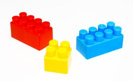 Building blocks white isolated Stock Image