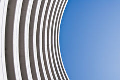 Building on the blue curve Royalty Free Stock Images