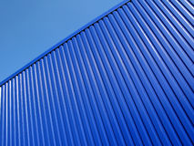 Building of Blue Metal Siding  Stock Photography