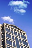 Building with Blue Sky. And Clouds Stock Image