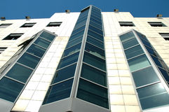 Building and blue sky. Business building with offices under blue sky Royalty Free Stock Photography
