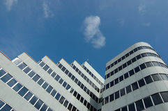 Building in blue sky. Business building and working place, singapore royalty free stock photography
