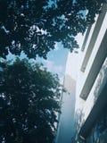 Building. Blue sky will make you feel comfortable Stock Photos