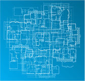 Building Blueprint stock illustration