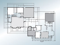 Building blueprint Royalty Free Stock Images