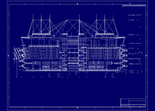 Building blueprint Royalty Free Stock Photos
