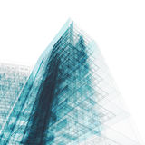 Building Blueprint On White Stock Images