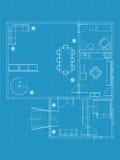 Building blueprints Stock Image