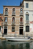 Building and boat on canal in Venice, Italy Royalty Free Stock Photo