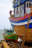 Building a Boat, Qui Nhon, Vietnam Stock Photos