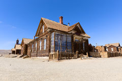 Abandoned House in Bodie Ghost Town Stock Images