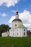 The building of the Bogoroditskaya church in Vyazma, Smolensk region. Vyazma, Russia - July 29, 2010: The building of the Bogoroditskaya church in Vyazma stock photos