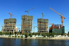 Building boom in China Royalty Free Stock Photography
