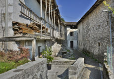 Building in Borgo Somp Cornino Royalty Free Stock Images
