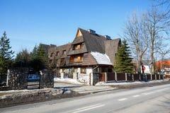 The building Boruta Hotel in Zakopane Stock Photos