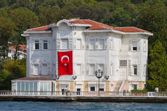 Building in Bosphorus Strait Royalty Free Stock Photography