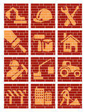 Building Brick Icons Royalty Free Stock Images