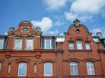 Building with brick masonry Royalty Free Stock Photography