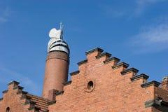 Building with brick masonry - historical brewery Stock Photo