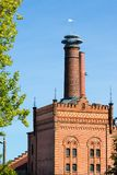 Building with brick masonry - historical brewery stock photos
